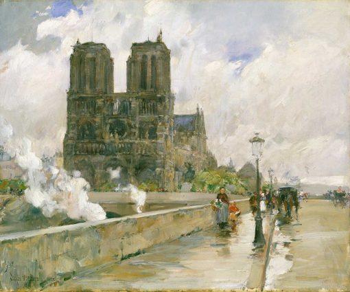 Catedral de Notre Dame, París, 1888, de Childe Hassam