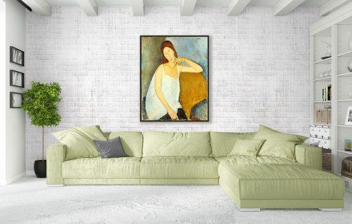 Jeanne Hébuterne de Modigliani, decoración