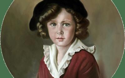Reproducción de un retrato al óleo