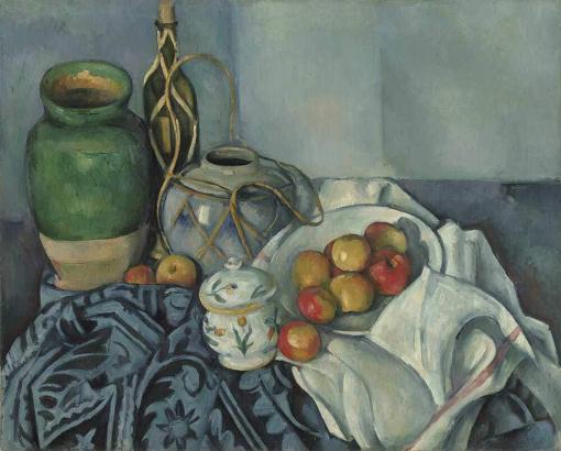 Bodegón con manzanas de Cézanne