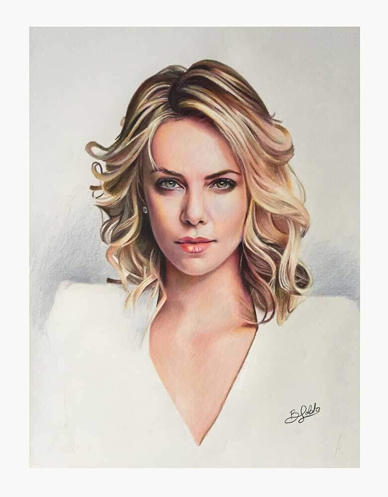 Retrato de Charlize Theron