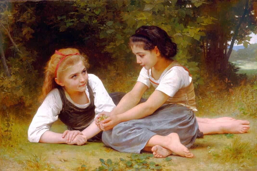 las recolectoras de nueces de William-Adolphe Bouguereau