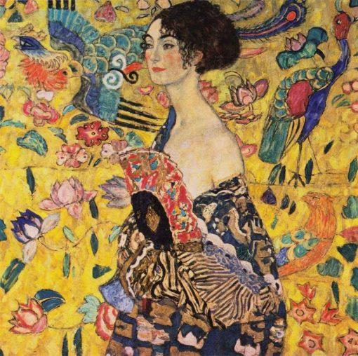 Mujer con abanico de Gustav Klimt