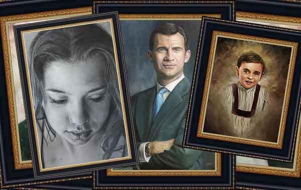 Retratos por encargo.
