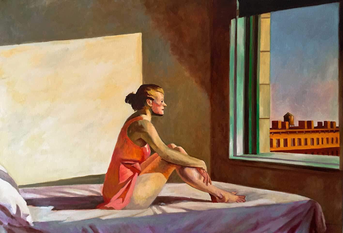 Sol de la mañana de Hopper. Reproducciones de cuadros por Copiamuseo