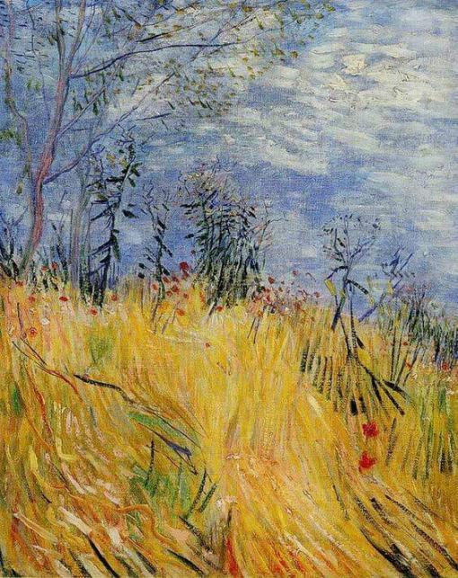 Borde del campo de trigo con amapolas, de Van Gogh