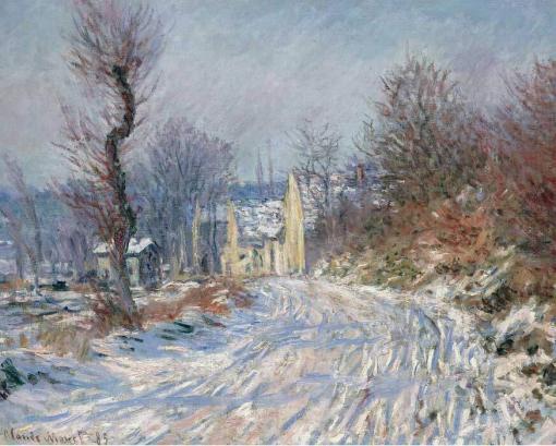 Camino a Giverny en invierno, de Claude Monet