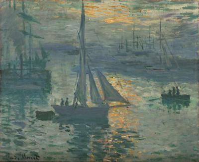 Amanecer, marina de Monet