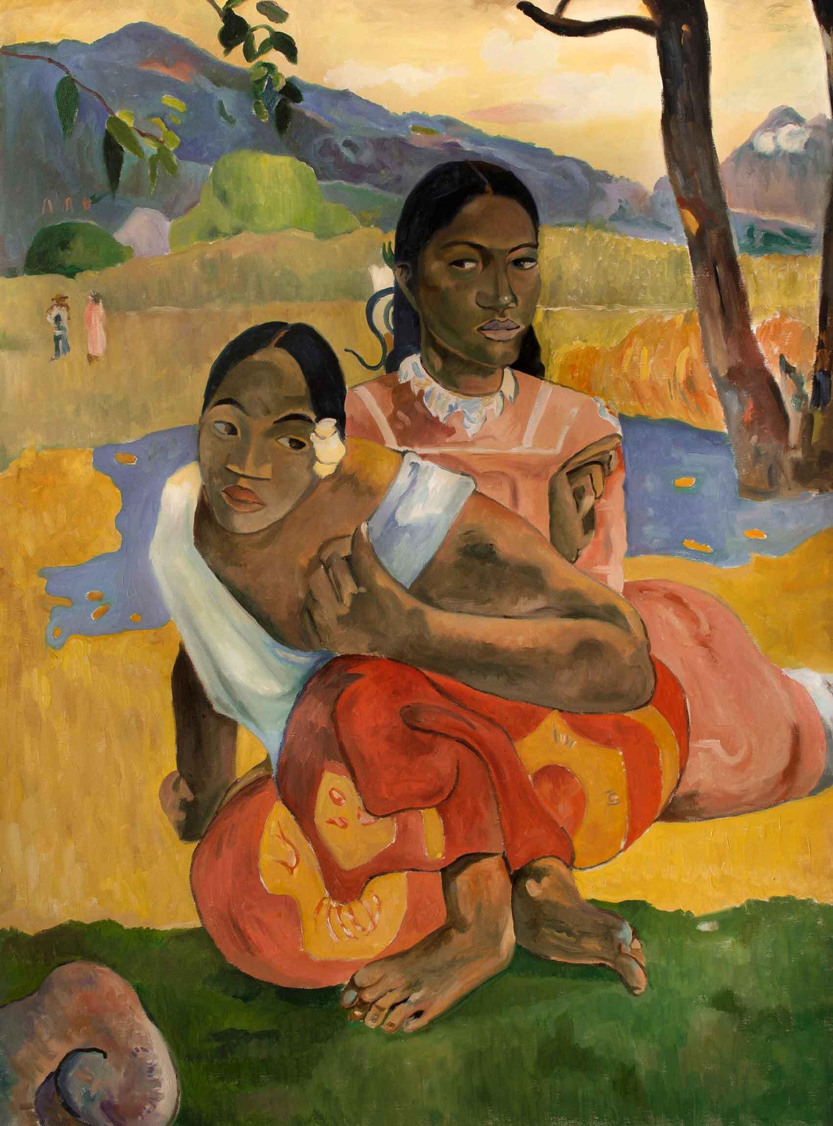 Reproducción de un cuadro de Gauguin, ¿Cuándo te casas?