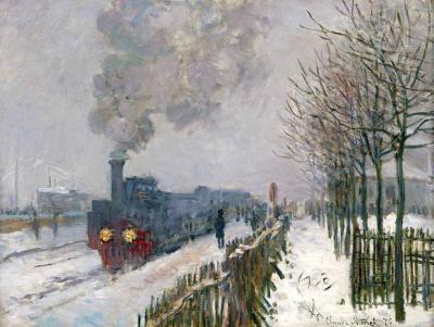 El tren en la nieve de Monet