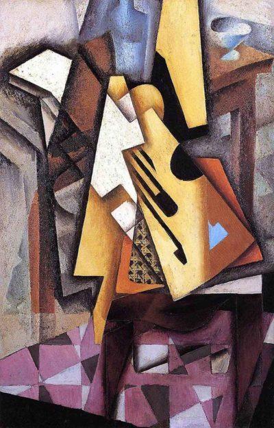 Guitarra en una silla de Juan Gris