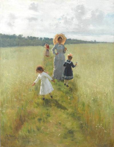 A lo largo del límite del campo de Ilya Repin