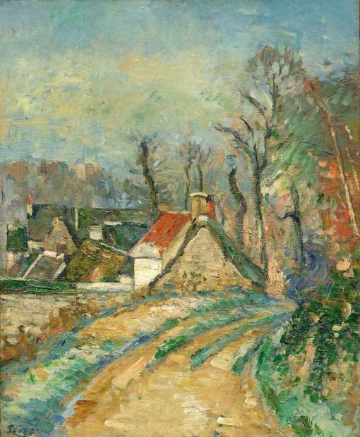 Curva en el camino de Auvers de Paul Cézanne
