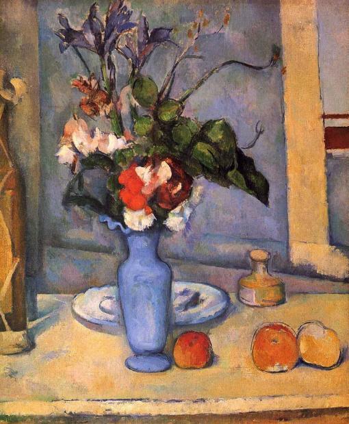 El jarrón azul de Paul Cézanne