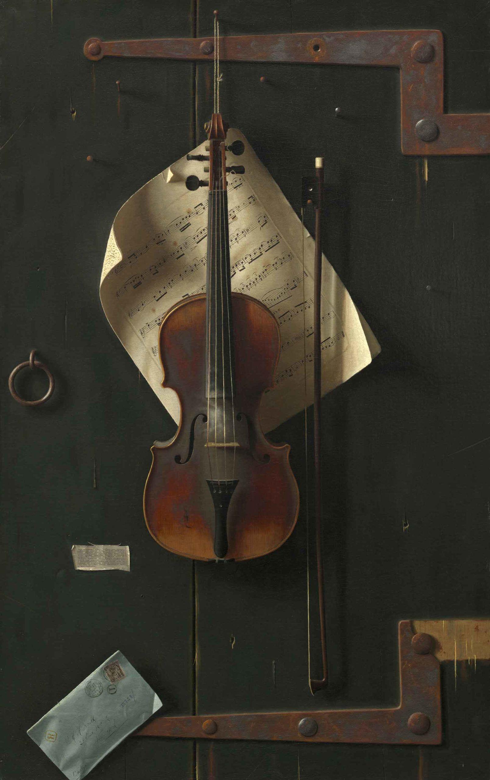 El viejo violín de William Michael Harnett
