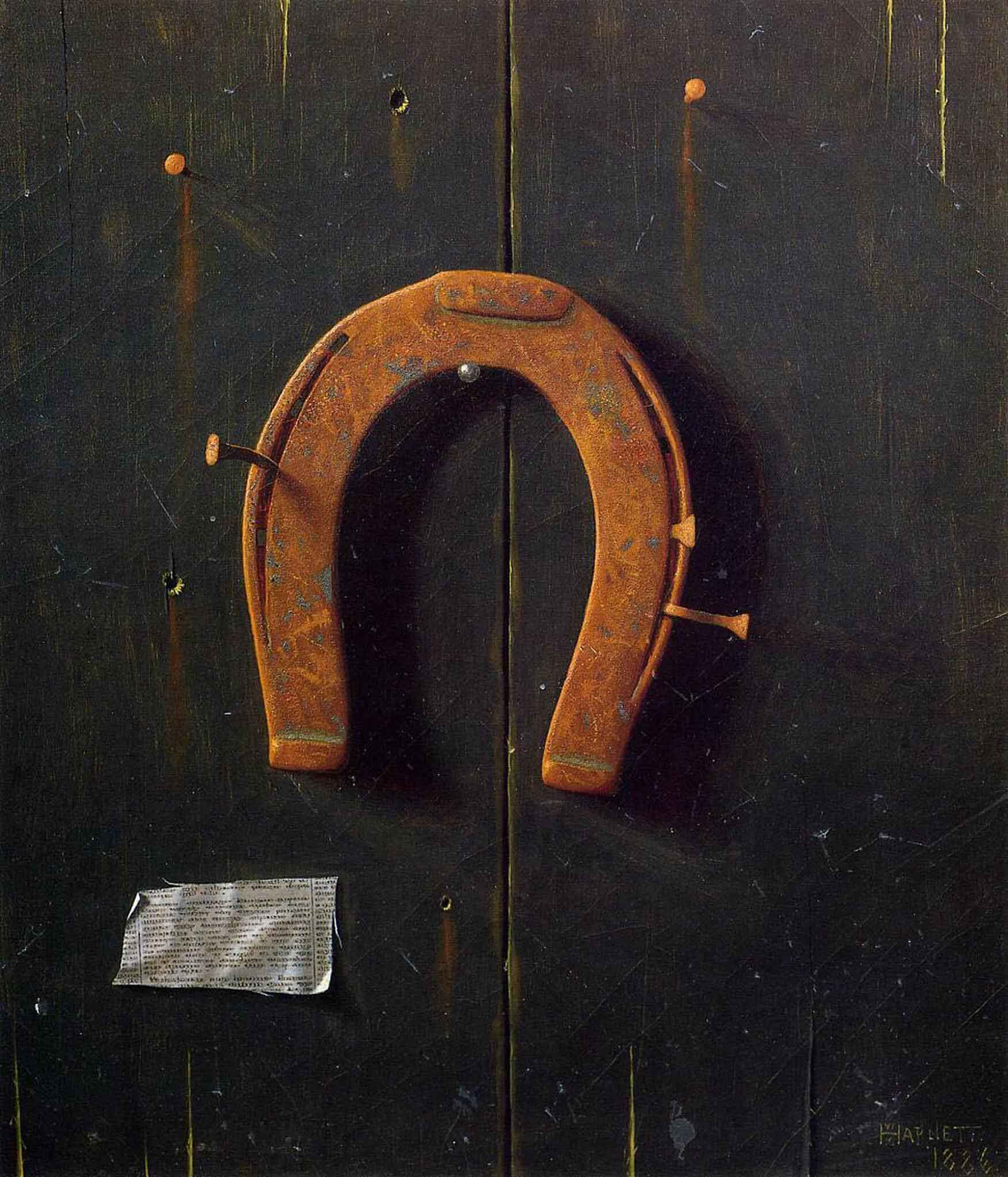 La herradura dorada de William Michael Harnett