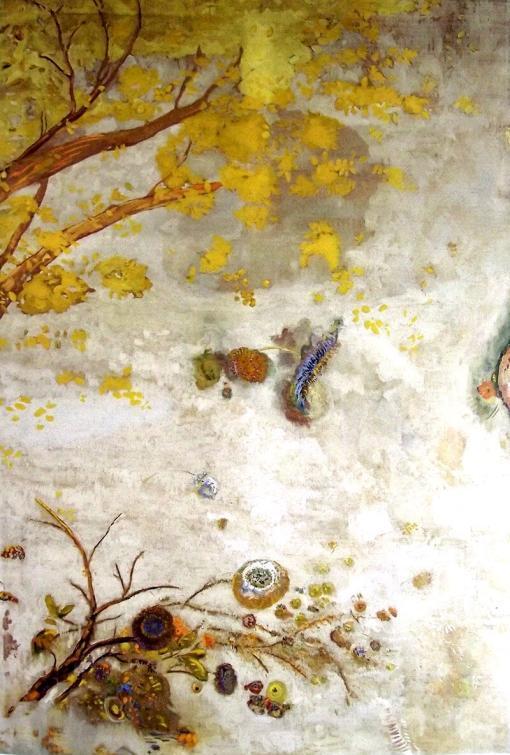La rama de flores amarillas de Odilon Redon