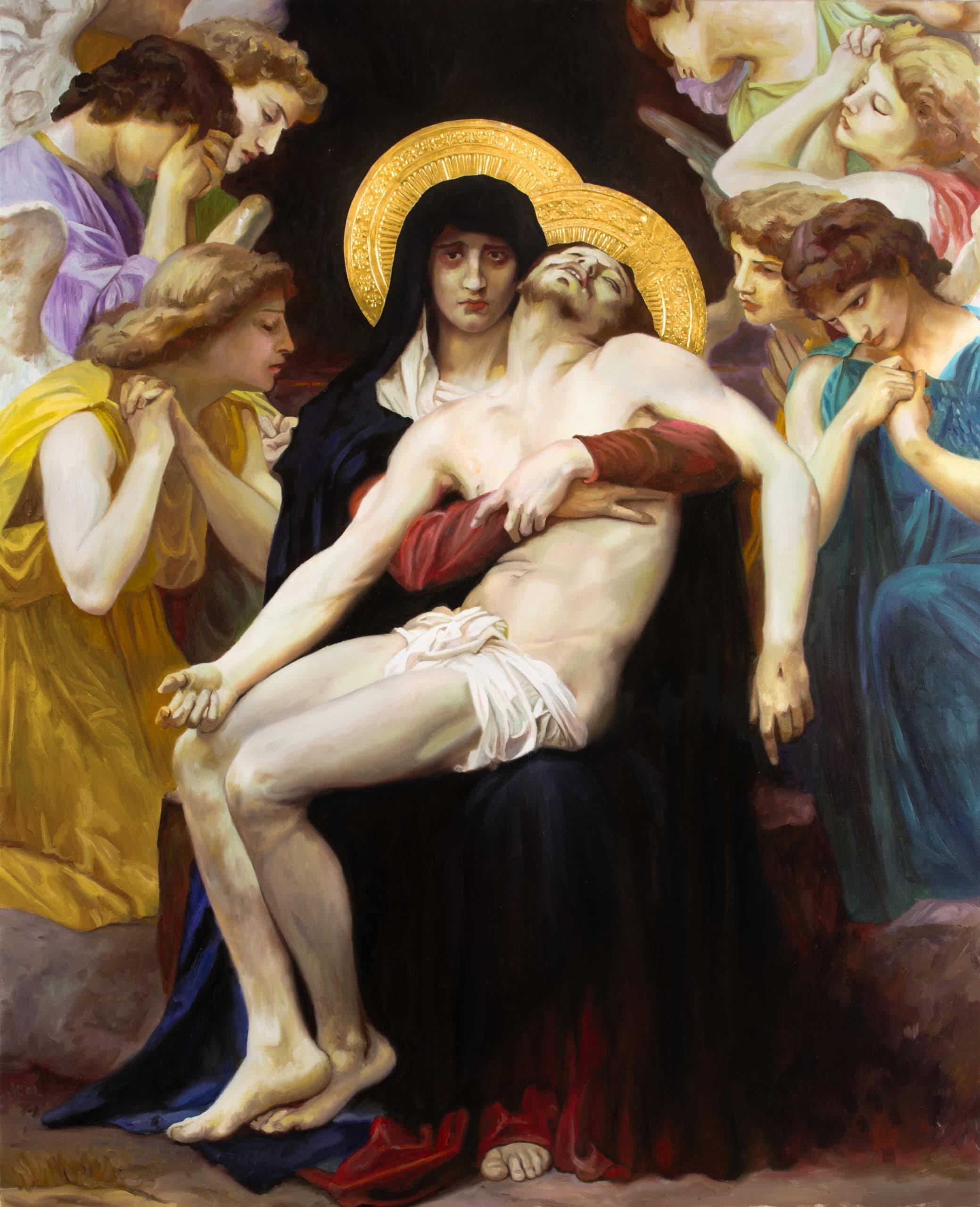 Reproducción de La Piedad de William Bouguereau