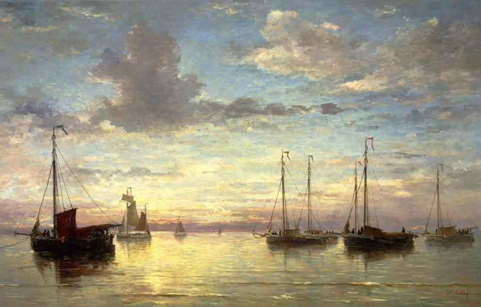 Hendrik Willem Mesdag y sus marinas