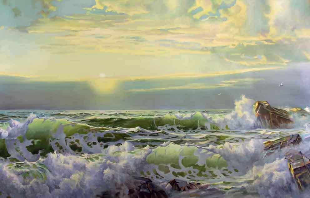 Reproducción de una marina de William Trost Richards