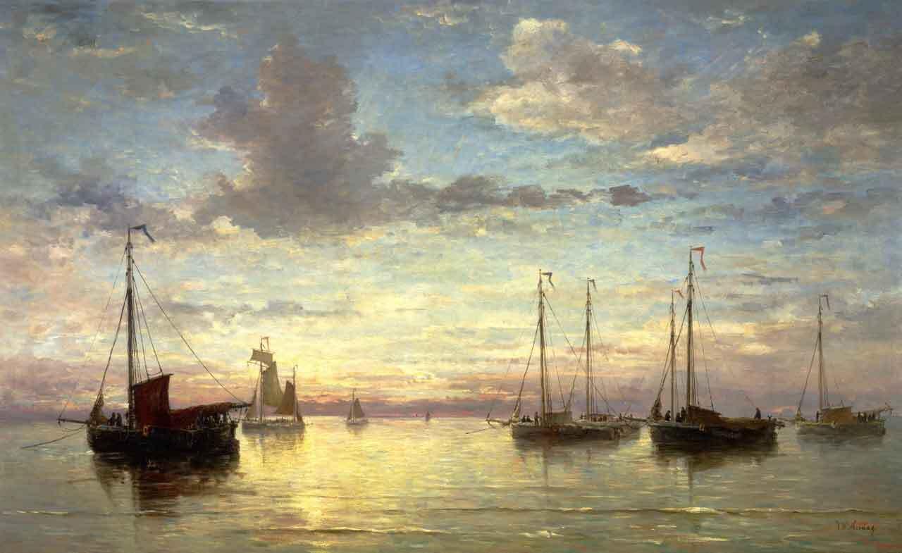 Tarde en el mar de Hendrik Willem Mesdag