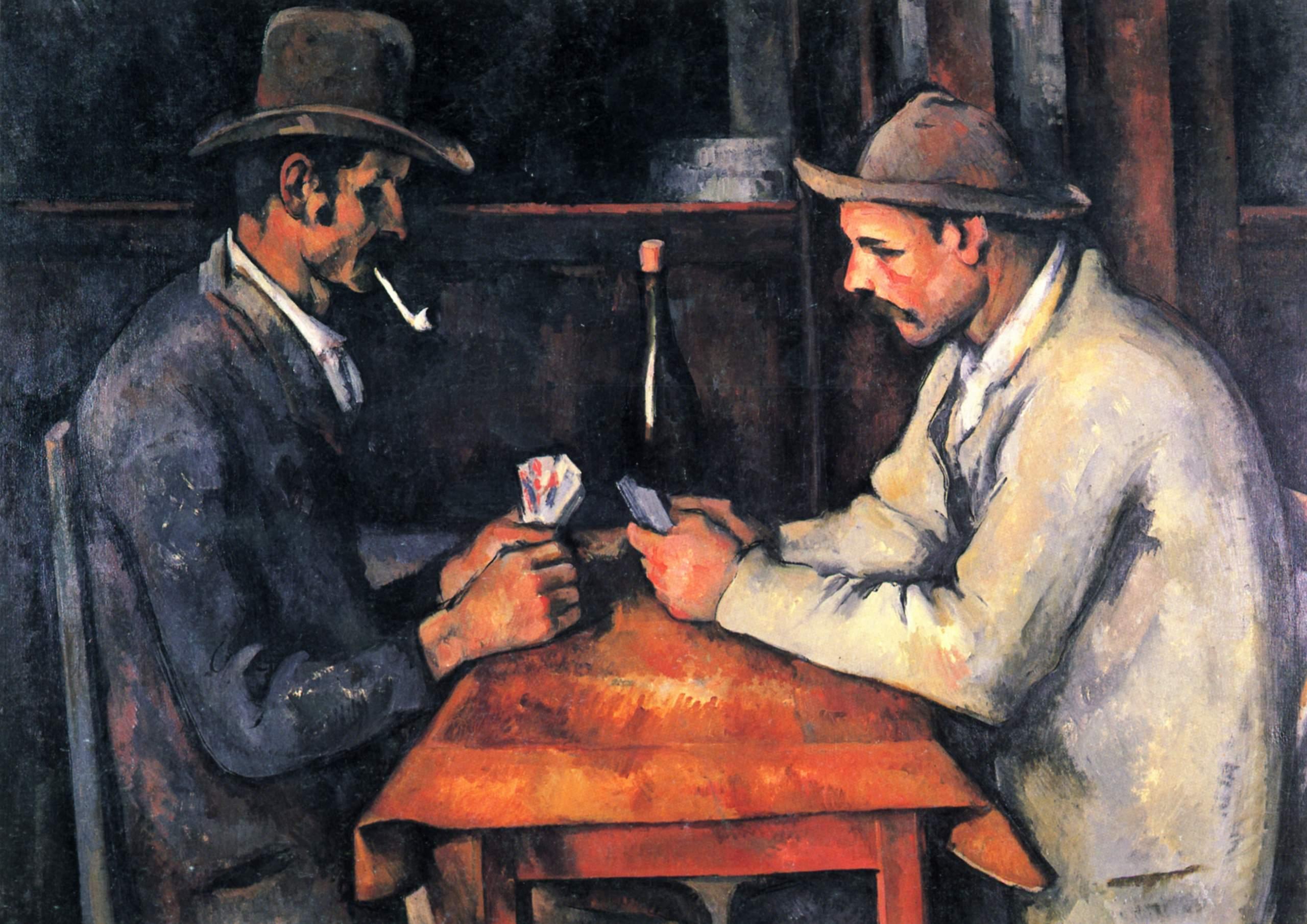 Jugadores de cartas, tercera versión, de Cézanne