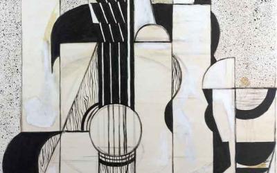 Reproducción con acrílicos de una obra de Juan Gris