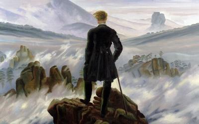 Reproducción de El caminante sobre el mar de nubes