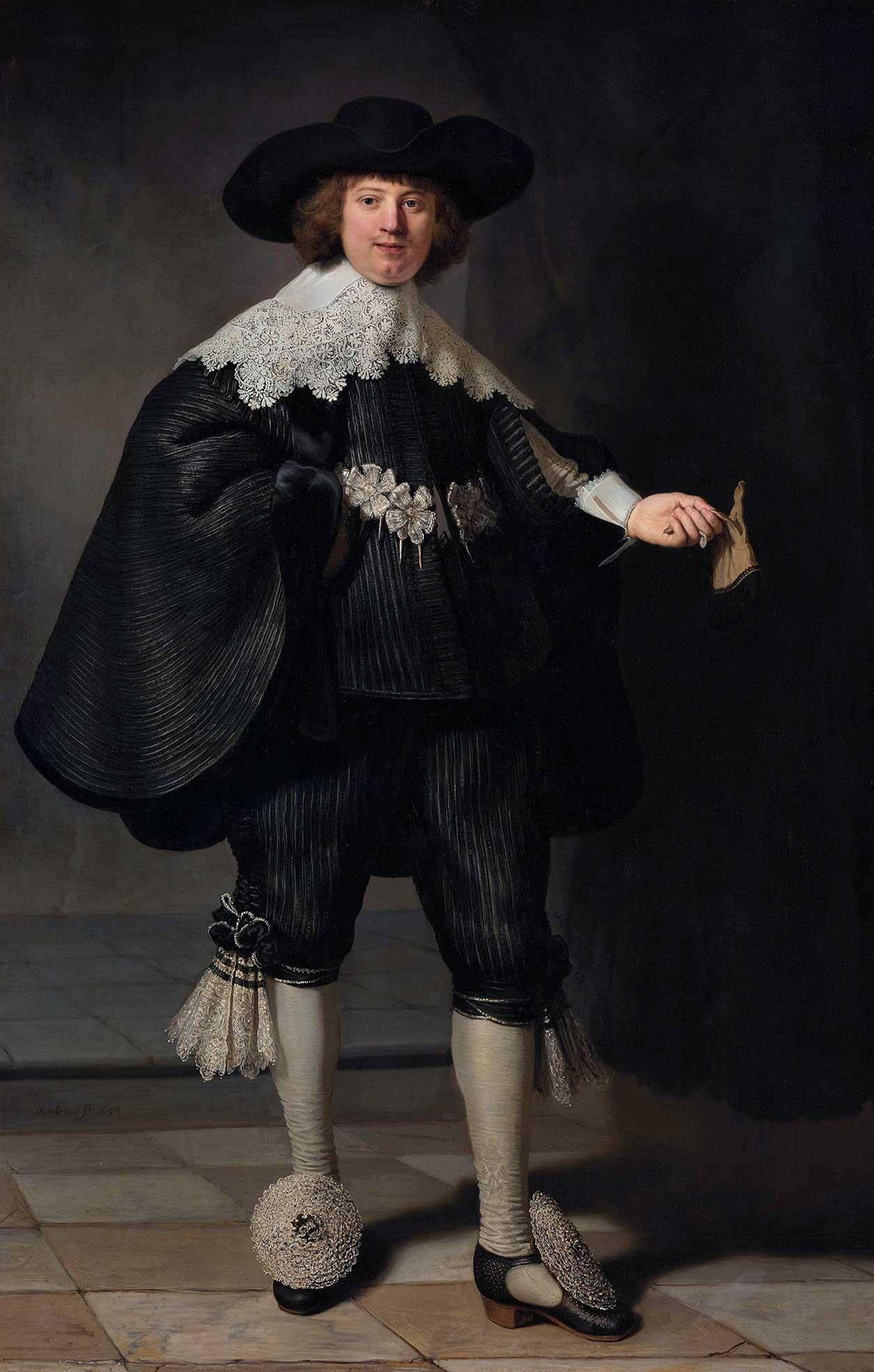 Retrato de Marten Soolmans de Rembrandt