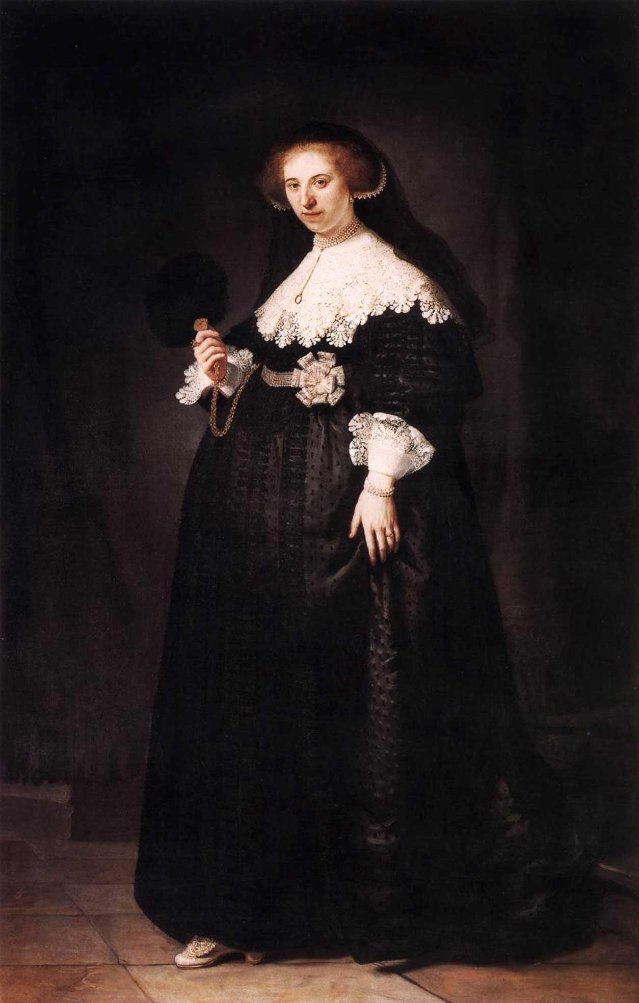 Retrato de Oopjen Coppit de Rembrandt