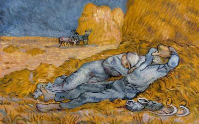 Reproducción de La siesta de Van Gogh