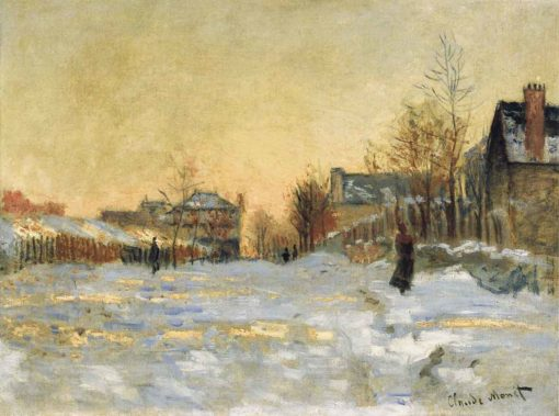 Calle de Argenteuil, efecto en la nieve, de Claude Monet