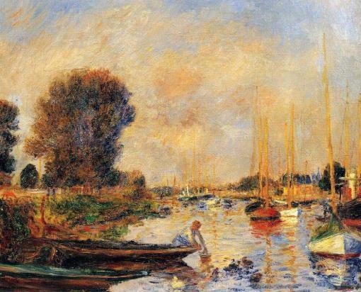 El Sena en Argenteuil de Renoir