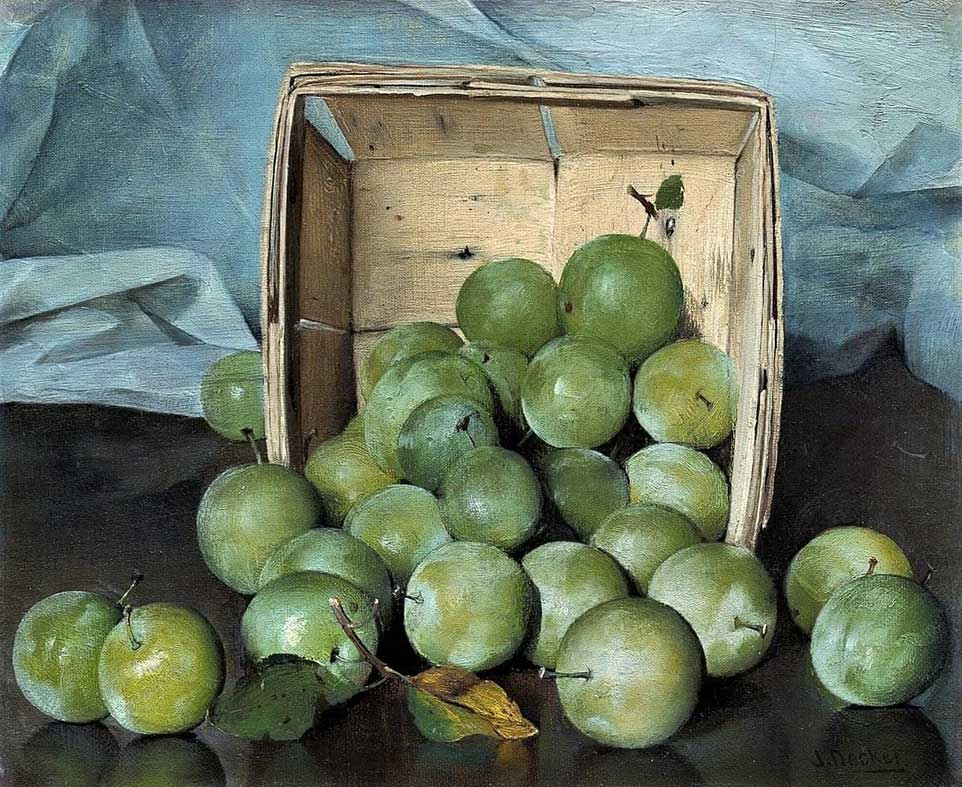 Ciruelas verdes de Joseph Decker