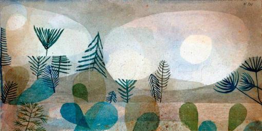 Paisaje oceánico de Paul Klee