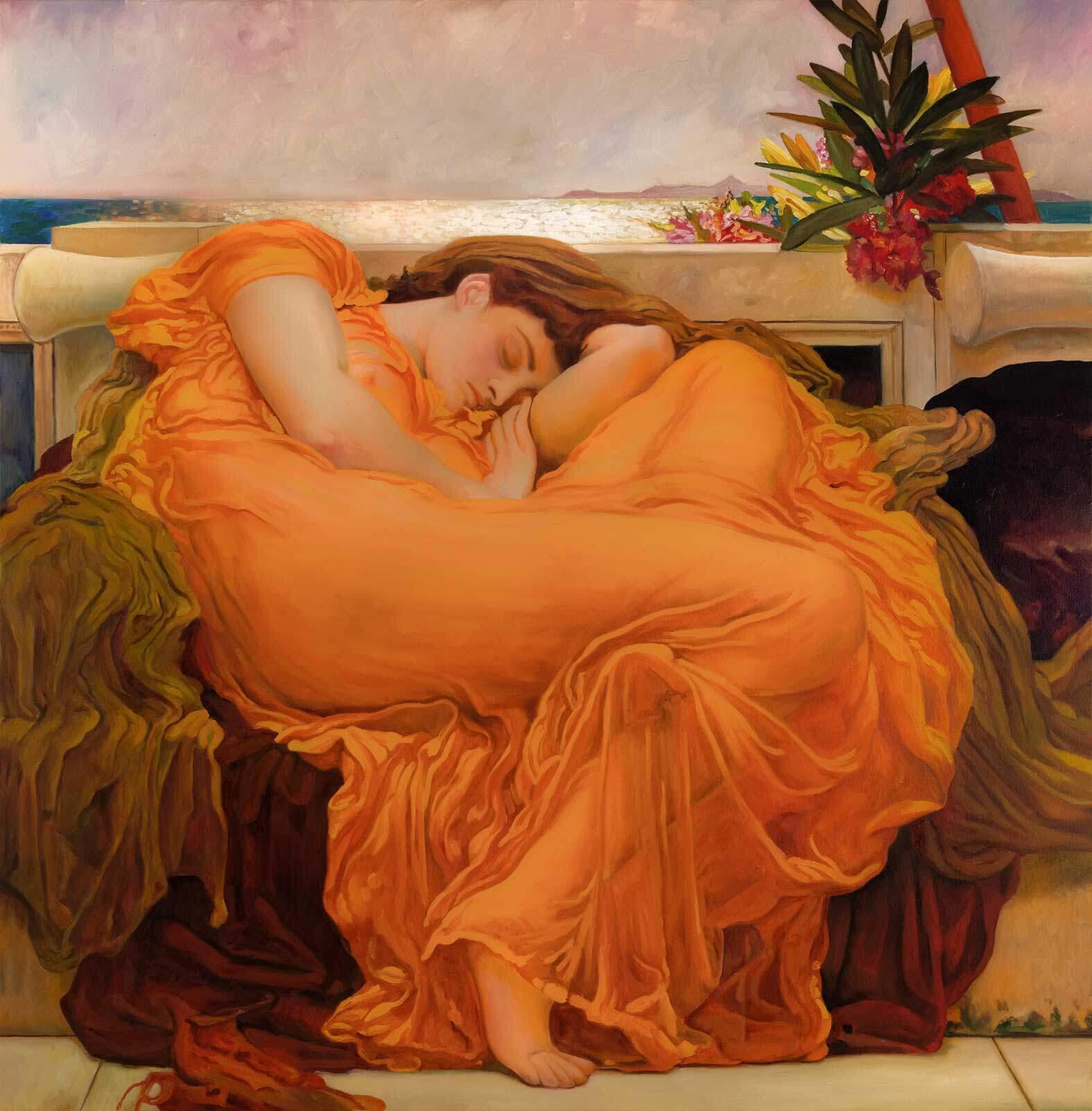 Reproducción de Sol ardiente de Junio de Frederic Leighton
