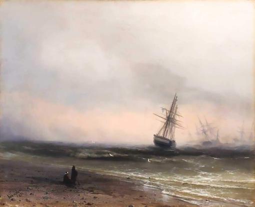 Paisaje marino en Crimea, de Iván Aivazovsky